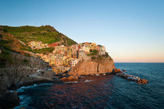 Manarola at the sunset Stock Photo