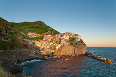 Manarola at the sunset Royalty Free Stock Photos