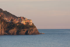 Manarola at sunset Royalty Free Stock Photography