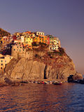 Manarola at sunset Royalty Free Stock Photos