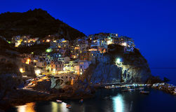 Manarola sunset Stock Photo