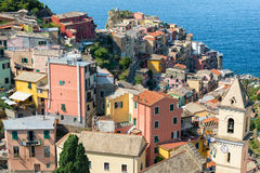 Manarola town in Cinque Terre, Liguria, Italy Royalty Free Stock Photos
