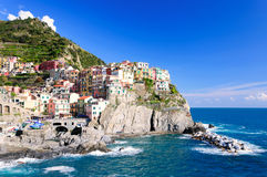Manarola town of Cinque Terre National Park Royalty Free Stock Image