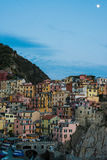 Manarola town at Cinque Terre national park in Royalty Free Stock Image