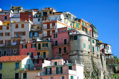 Manarola town of Cinque Terre National Park Stock Photo