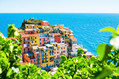 Manarola town, Cinque Terre national park, Italy Royalty Free Stock Images