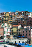 Manarola town at Cinque Terre national park. Italy royalty free stock photo