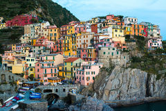 Manarola town at Cinque Terre national park. Italy Stock Image