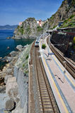 Manarola train station, Cinque Terre Stock Images