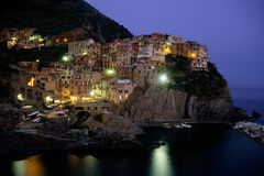 Manarola at Twilight Royalty Free Stock Photos