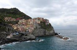 Manarola, un des villages de Cinque Terre, l'Italie Images libres de droits