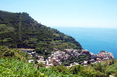 Manarola view. View of Manarola, one of the 5 Cinque-Terre villages, Italy Royalty Free Stock Image