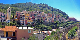 Manarola. View of part of Manarola, one of the 5 Cinque-Terre villages, Italy Stock Image