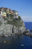 Manarola View. Town of Manarola in summer Stock Photography