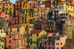 Manarola village on the Cinque Terre coast. Royalty Free Stock Photography