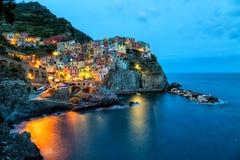 Manarola village on the Cinque Terre coast. Stock Photography