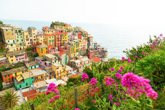 Manarola village on the Cinque Terre coast. Royalty Free Stock Image