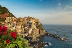 Manarola village on the Cinque Terre coast. Royalty Free Stock Images