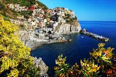 Manarola village, Cinque Terre, Italy Stock Photos
