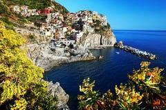 Manarola village, Cinque Terre, Italy Stock Photos
