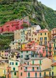 Manarola village in Cinque terre, Italy. Hdr image. Royalty Free Stock Image