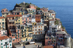 Manarola village over the sea Stock Photo