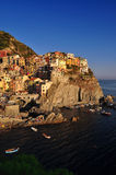Manarola village up on the cliffs Royalty Free Stock Images