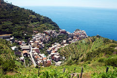 Manarola village. View of Manarola, one of the 5 Cinque-Terre villages, Italy Royalty Free Stock Photo