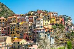 Manaroladorp, Cinque Terre Coast, Italië stock foto's