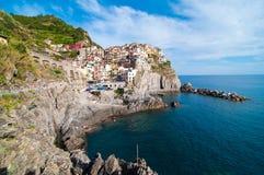 Manaroladorp en Cinque Terre Stock Foto