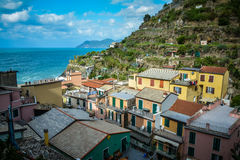 Manarolo view over the sea (II) Royalty Free Stock Photography