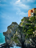 Manarolo view over the sea Royalty Free Stock Image