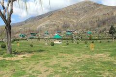 Garden In Kashmir. Manas bal lake Local Garden. Kashmir,(India stock image