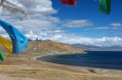 Manasarovar sjö Tibet 2 Arkivbild