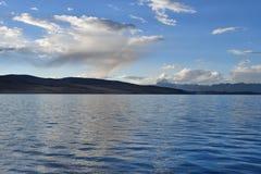 Manasarovar, Tibet, China, June, 14, 2018. Piople make parikrama around lake Manasarovar in Tibet royalty free stock photos
