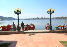 Manasbal湖。 免版税库存图片