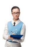 Manaser joven en el oeste azul con la pluma Fotos de archivo libres de regalías