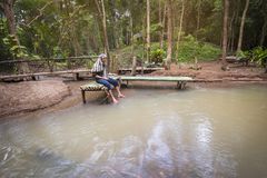 ManAsien fiske Royaltyfri Fotografi