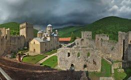 Manasija monastery /Resava/ , Republic of Serbia - panorama royalty free stock image