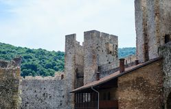 Fortified Manasija Monastery. MANASIJA MONASTERY, SERBIA  - MAY 5, 2018 : Serbian medieval fortification, Fortified Manasija Monastery, Editorial use only Royalty Free Stock Image