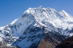 manaslu山尼泊尔近处 图库摄影