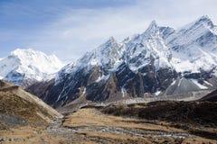manaslu halni Nepal pobliża Obrazy Royalty Free