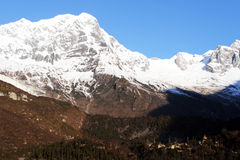 Manaslu and monastery Royalty Free Stock Images