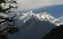 Manaslu mountain, Nepal. Manaslu mountain view from Annapurna side, Nepal Royalty Free Stock Photos