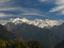 Manaslu peak. View from Annapurna side, Nepal Royalty Free Stock Photo