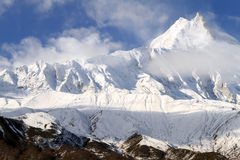Manaslu and sky Royalty Free Stock Images