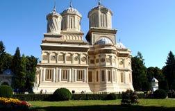 Manastirea Curtea de Arges. Orthodox masterpiece monastry in Curtea de Arges Romania Stock Image