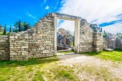 Manastirine -古老罗马公墓在克罗地亚,欧洲 库存图片