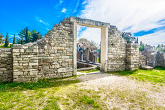 Manastirine - ancient roman cemetery in Croatia, Europe. View at ancient roman city Salona and historic cemetery Manastirine in suburb of town Split, Croatia Stock Images