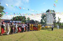 Manau traditional event of Kachin's tribe to worship God Stock Photos